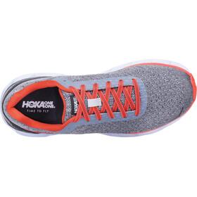 Hoka One One Elevon - Zapatillas running Mujer - gris/naranja